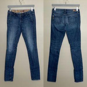 Paige premium denim skinny distressed jeans sz 25